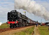 Mid Norfolk steam railway line running adjacent to the park